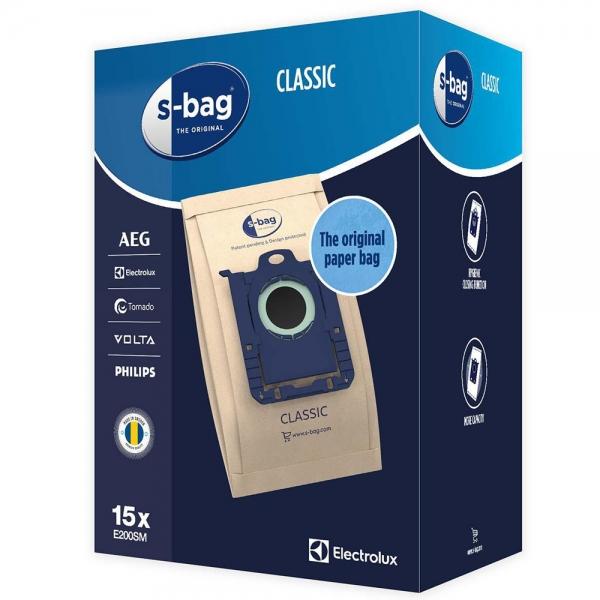 15 Staubsaugerbeutel für AEG, Electrolux, Philips S-Bag Classic E200SM