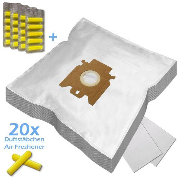 SET 20 Duftstäbchen + 20 Staubsaugerbeutel Für Miele Typ FJM / GN - kompatibel zu 9917710, 9922740
