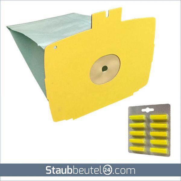 Sparset (10 Staubsaugerbeutel + 10 Duft) geeignet für Lux D 715 - D 745