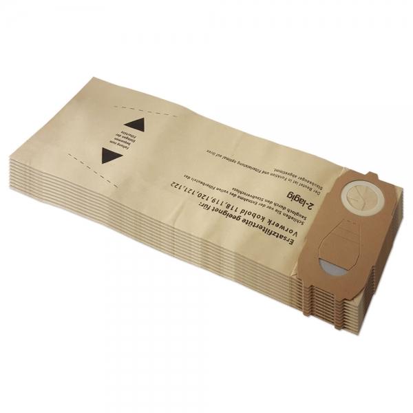 10 Staubsaugerbeutel geeignet für Vorwerk Kobold VK 118 119 120 121 122