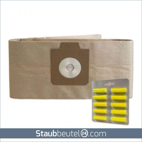 Sparset (5 Staubsaugerbeutel + 10 Duft) geeignet für Electrolux UZ930, Lux DP9000, Nilfisk GD930