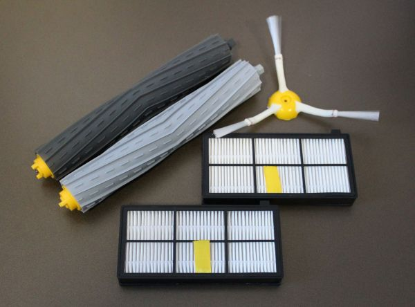 Wartungskit Extractor Bürsten + 2 HEPA Filter + Seitenbürste für iRobot Roomba Serie 800 und 900