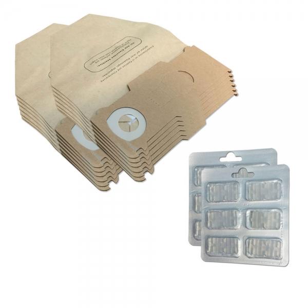 SPARSET 12 Staubbeutel + 12 Duftsteine geeignet für Vorwerk Kobold VK 130 131 SC