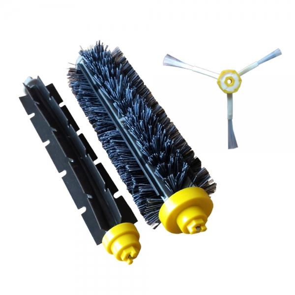 Kit Borstenbürste + Klopfbürste + Seitenbürste geeignet für iRobot Roomba Serie 600 und 700