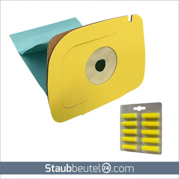 SPARSET 10 Staubsaugerbeutel + 10 Duft geeignet für Lux 1 Classic, Royal, D 820