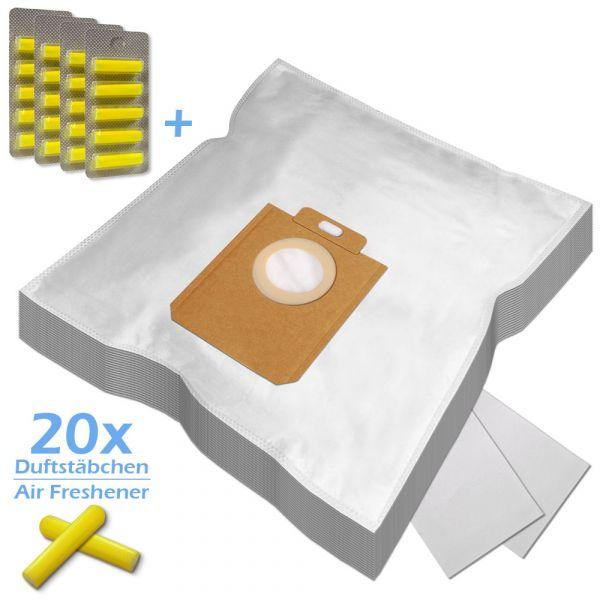 SPARSET 20 Duftstäbchen + 20 Staubsaugerbeutel Für AEG/Philips 200/205 s-bag und Typ PH86