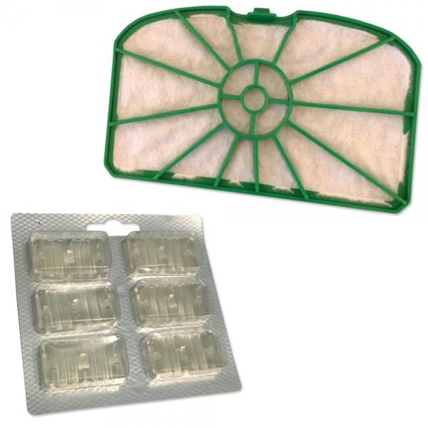 Motorschutzfilter + 6 Duftsteine geeignet für Vorwerk Kobold VK 200