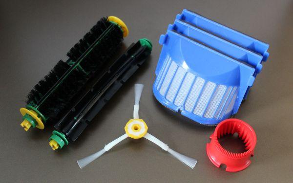 Wartungskit Bürsten Set + 3 AeroVac Filter + Seitenbürste + RW geeignet für iRobot Roomba 564, 565 P