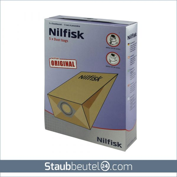 5 Original NILFISK Staubsaugerbeutel Typ GM80 / GM90