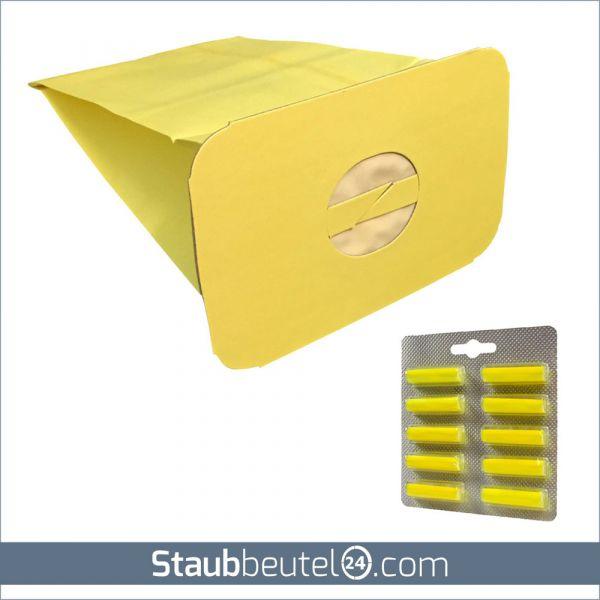 SPARSET 10 Staubsaugerbeutel + 10 Duft geeignet für Electrolux / Lux Z 317, Z 320, Z 325, Z 345