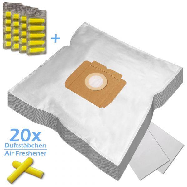 SPARSET 20 Duftstäbchen + 20 Staubsaugerbeutel geeignet für AEG Typ Gr. 28 und Typ A07