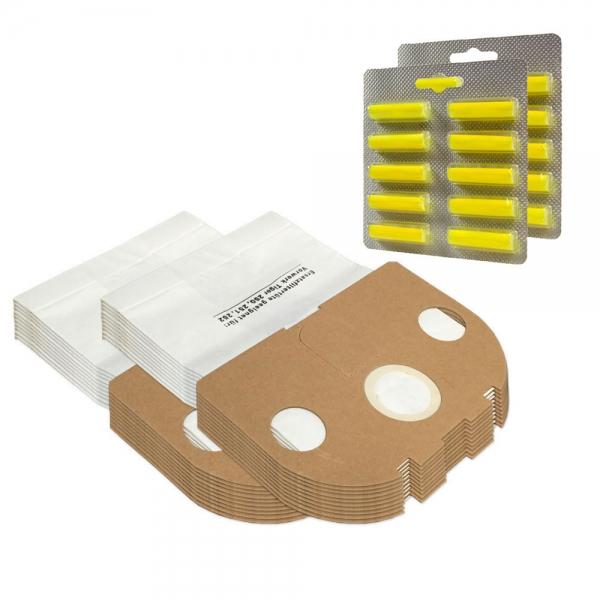 SPARSET 20 Staubbeutel + 20 Duftstäbchen geeignet für Vorwerk Tiger VT 250 251 252