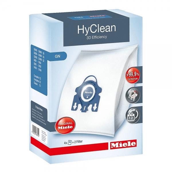 4 Original MIELE Staubbeutel Typ GN HyClean 3D