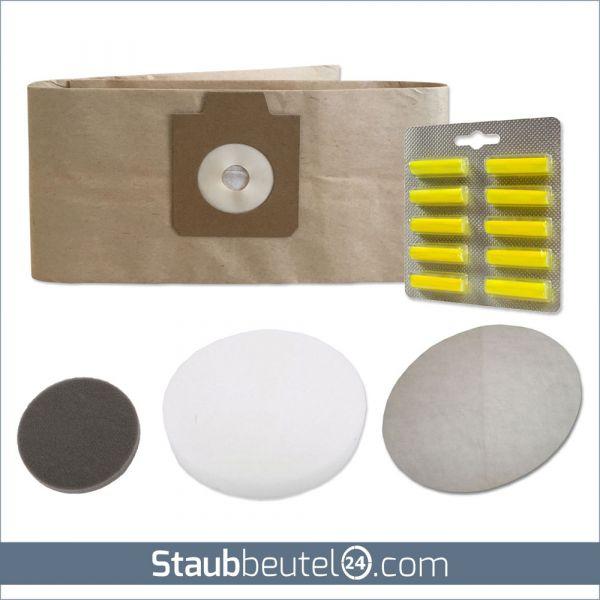 SPARSET 5 Staubbeutel + 3 Filter + 10 Duft geeignet für Electrolux UZ930, Lux DP9000, Nilfisk