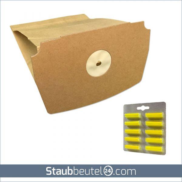 SPARSET 10 Staubsaugerbeutel + 10 Duft geeignet für Lux D 748 - D 795