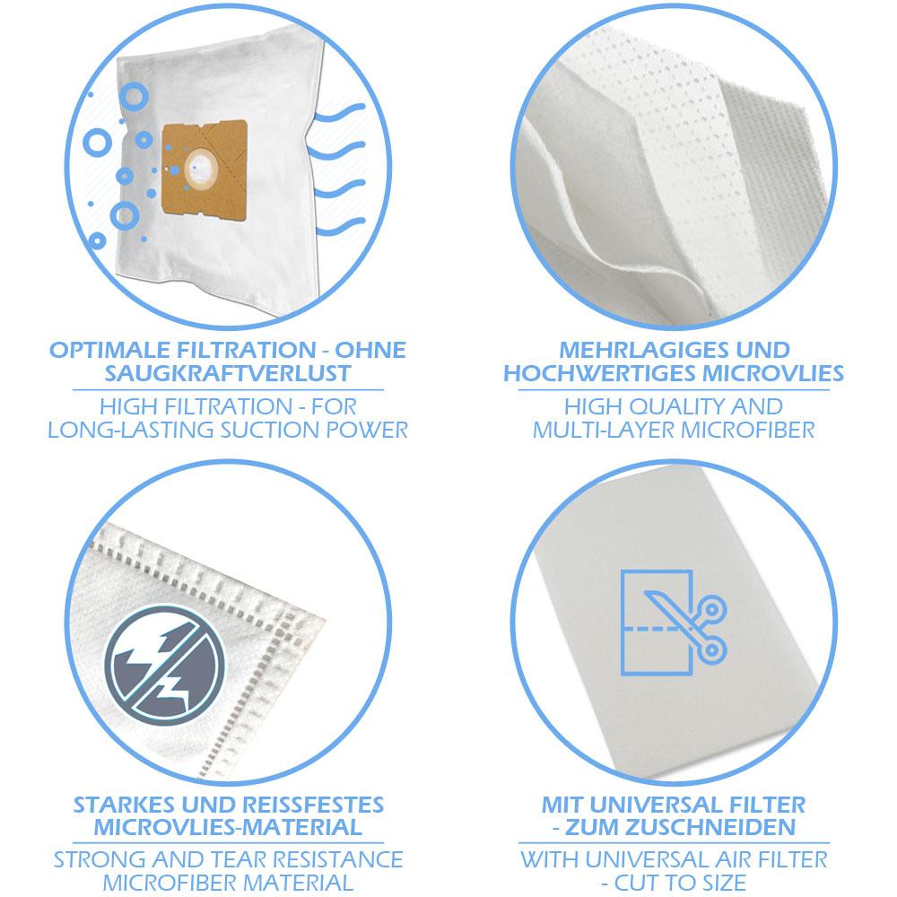 10 Staubsaugerbeutel aus Papier geeignet für Bomann BS 985 CB