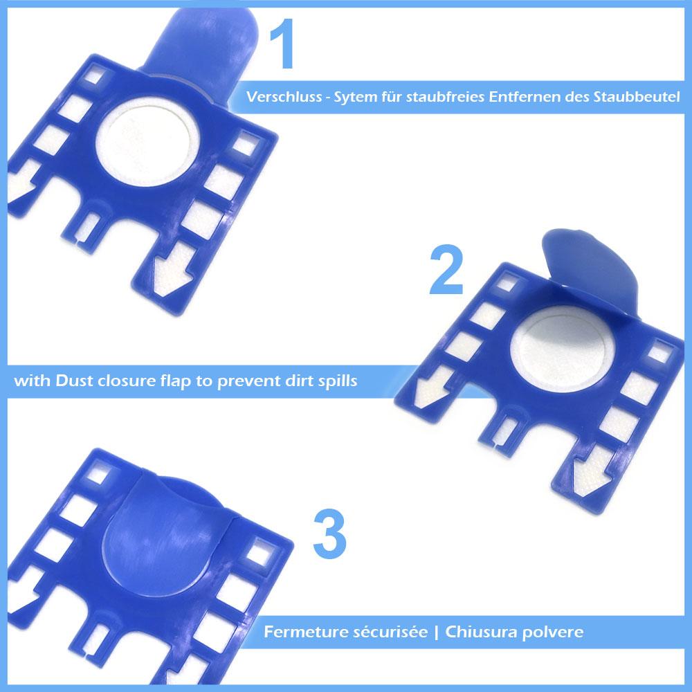 10 PREMIUM Staubsaugerbeutel geeignet für Bosch Siemens Typ D E F G H und Typ S62 S67 S68 S73