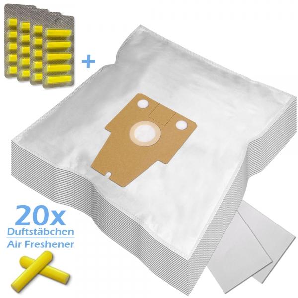 SPARSET 20 Duftstäbchen + 20 Staubsaugerbeutel Für Bosch / Siemens Typ P und Typ S71