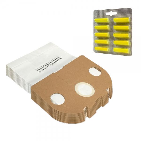 SPARSET 10 Staubbeutel + 10 Duftstäbchen geeignet für Vorwerk Tiger VT 250 251 252