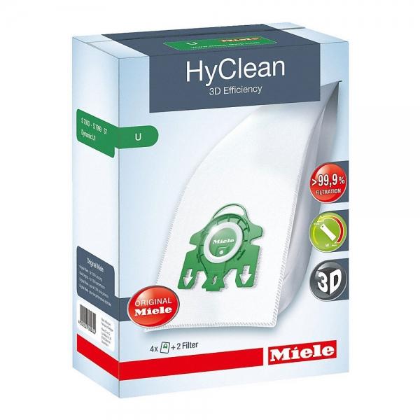 4 Original MIELE Staubbeutel Typ U HyClean 3D