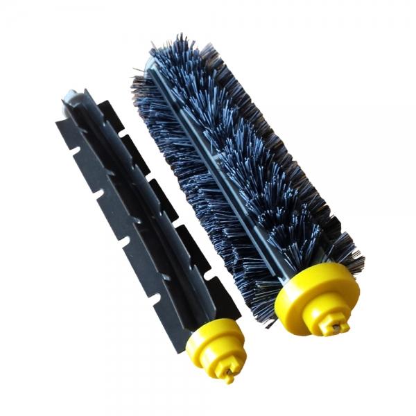 Bürstenset Borstenbürste + Klopfbürste geeignet für iRobot Roomba Serie 600 und 700