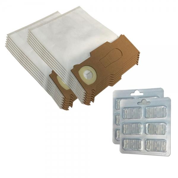 SPARSET 12 Staubbeutel + 12 Duftsteine geeignet für Vorwerk Kobold VK 130 131 SC - Mikrovlies