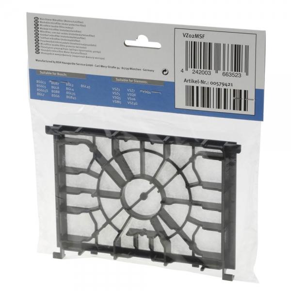 Motorschutzfilter für Bosch BBZ02MPF, Siemens VZ02MSF