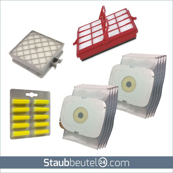 SPARSET 8 Staubsaugerbeutel + 2 Filter + 10 Duft geeignet für LUX / Electrolux Typ Intelligence