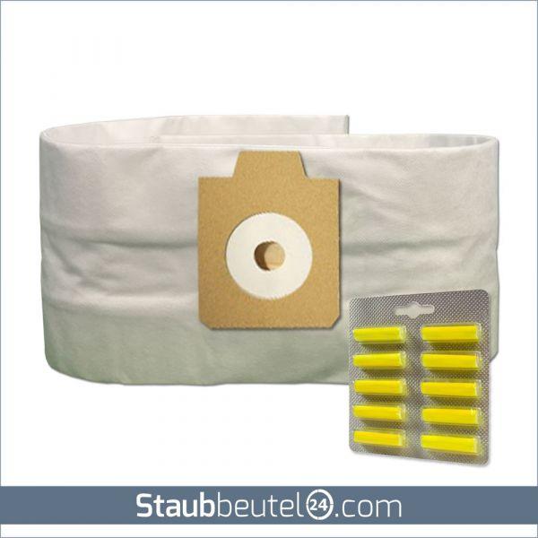 Sparset (5 Staubsaugerbeutel + 10 Duft) geeignet für Electrolux UZ930, Lux DP9000, Nilfisk GD930 MV