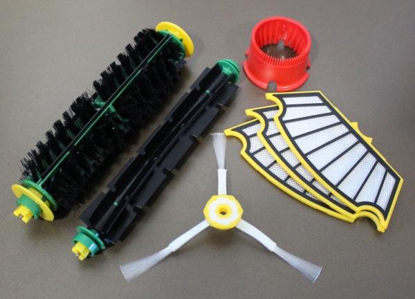 Wartungskit - Bürsten Set + 3 Filter + Seitenbürste + RW geeignet für iRobot Roomba Serie 500