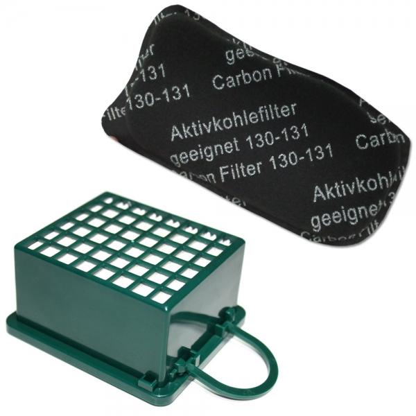 FILTERSET HEPA Filter + Kohlefilter geeignet für Vorwerk Kobold VK 130 131 SC
