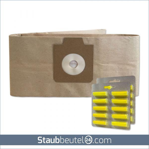 SPARSET 10 Staubsaugerbeutel + 20 Duft geeignet für Electrolux UZ930, Lux DP9000, Nilfisk GD930