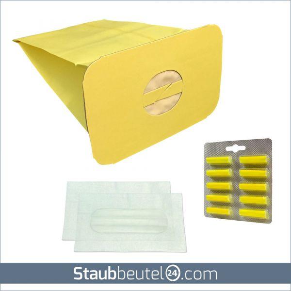 SPARSET 10 Staubbeutel + 2 Filter + 10 Duft geeignet für Electrolux / Lux Z317, Z320, Z325, Z345,