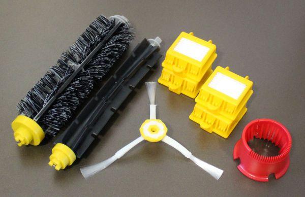 Wartungskit Bürsten + 4 HEPA Filter + Seitenbürste + RW geeignet für iRobot Roomba Serie 700