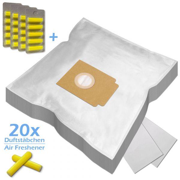 SPARSET 20 Duftstäbchen + 20 Staubsaugerbeutel geeignet für EIO und Typ EIO80