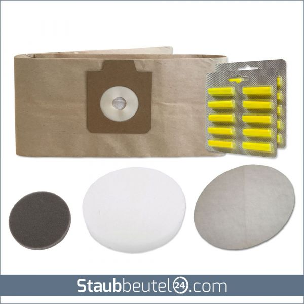 Sparset (10 Staubbeutel + 3 Filter + 20 Duft) geeignet für Electrolux UZ930, Lux DP9000, Nilfisk