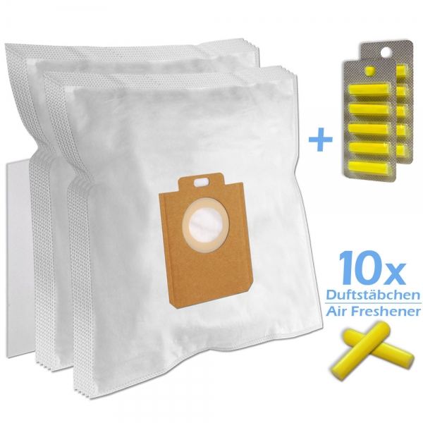 SET 10 Duftstäbchen + 10 Staubsaugerbeutel Für AEG/Philips 200/205 s-bag und Typ PH86