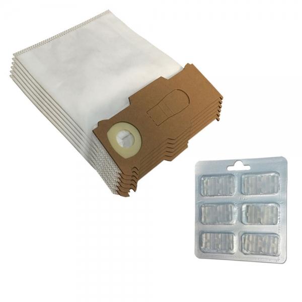 SPARSET 6 Staubbeutel + 6 Duftsteine geeignet für Vorwerk Kobold VK 130 131 SC - Mikrovlies