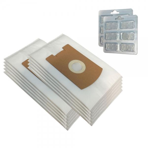 SPARSET 10 Staubbeutel + 12 Duftsteine geeignet für Vorwerk Tiger VT 260 265 270 300