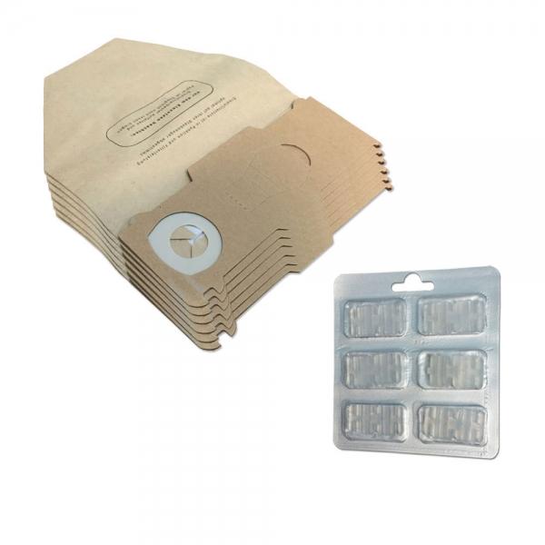 SPARSET 6 Staubbeutel + 6 Duftsteine geeignet für Vorwerk Kobold VK 130 131 SC