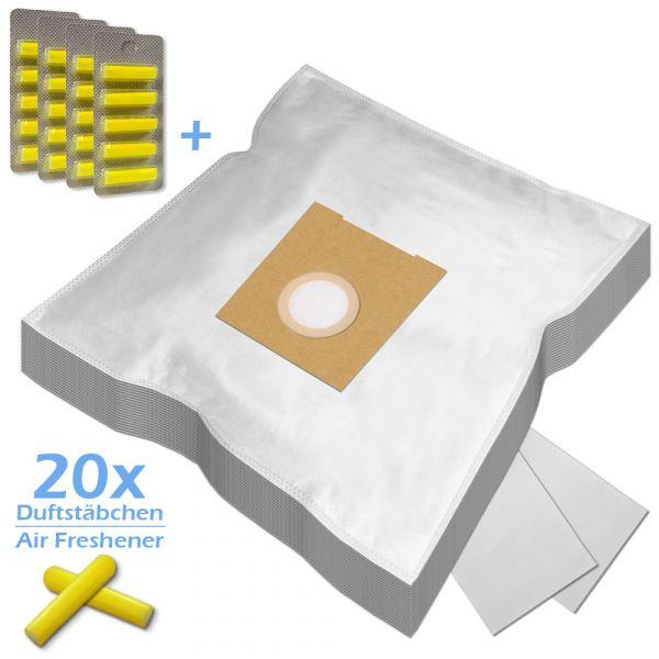 SPARSET 20 Duftstäbchen + 20 Staubsaugerbeutel Für Bosch / Siemens Typ D E F G H und Typ S62 S67 S68