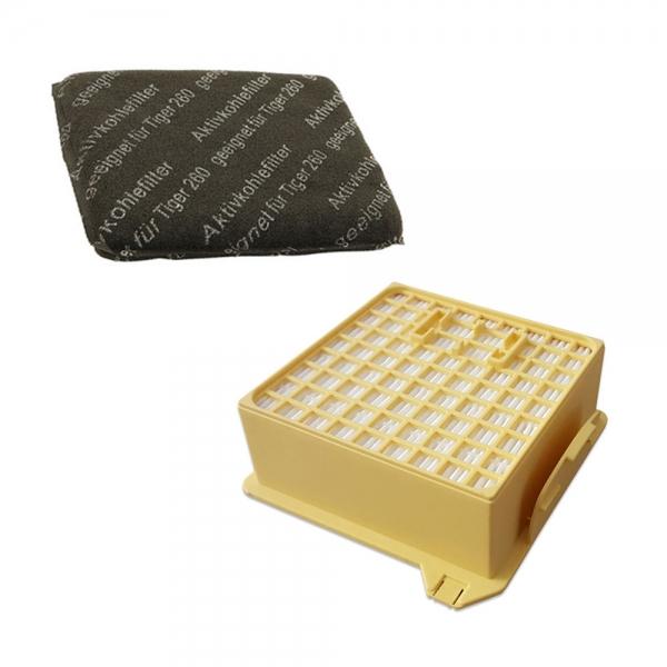 FILTERSET HEPA Filter + Kohlefilter geeignet für Vorwerk Tiger VT 260