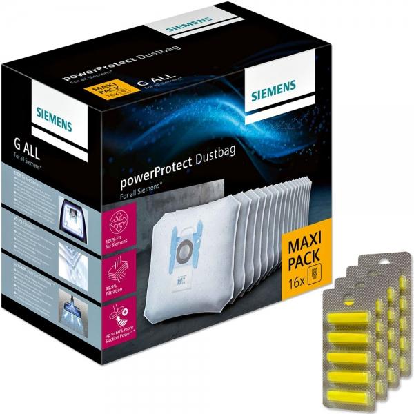 XXL Pack - 20 Duftstäbchen + 16 Staubsaugerbeutel für SIEMENS PowerProtect Type G ALL - VZ16GALL
