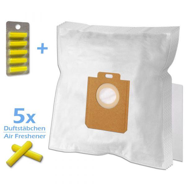 SET 5 Duftstäbchen + 5 Staubsaugerbeutel Für AEG/Philips 200/205 s-bag und Typ PH86
