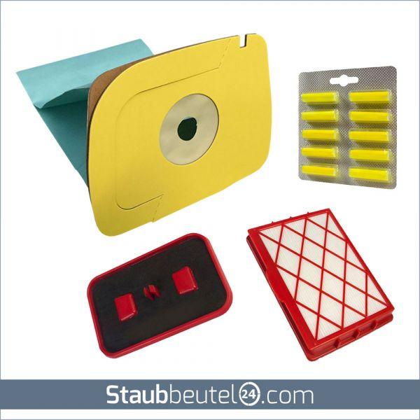 SPARSET 10 Staubbeutel + HEPA Filter + Kohlefilter + 10 Duft geeignet für Lux 1 Classic, Royal